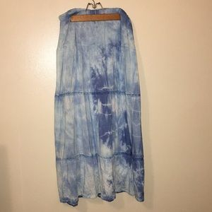 Hand Dyed Maxi Skirt